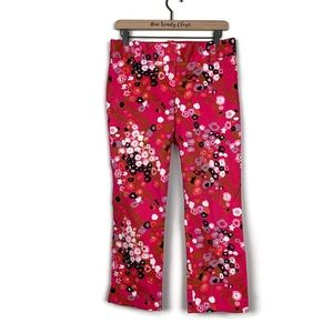J. Crew | Pink City Fit Cherry Blossom Capri Pants
